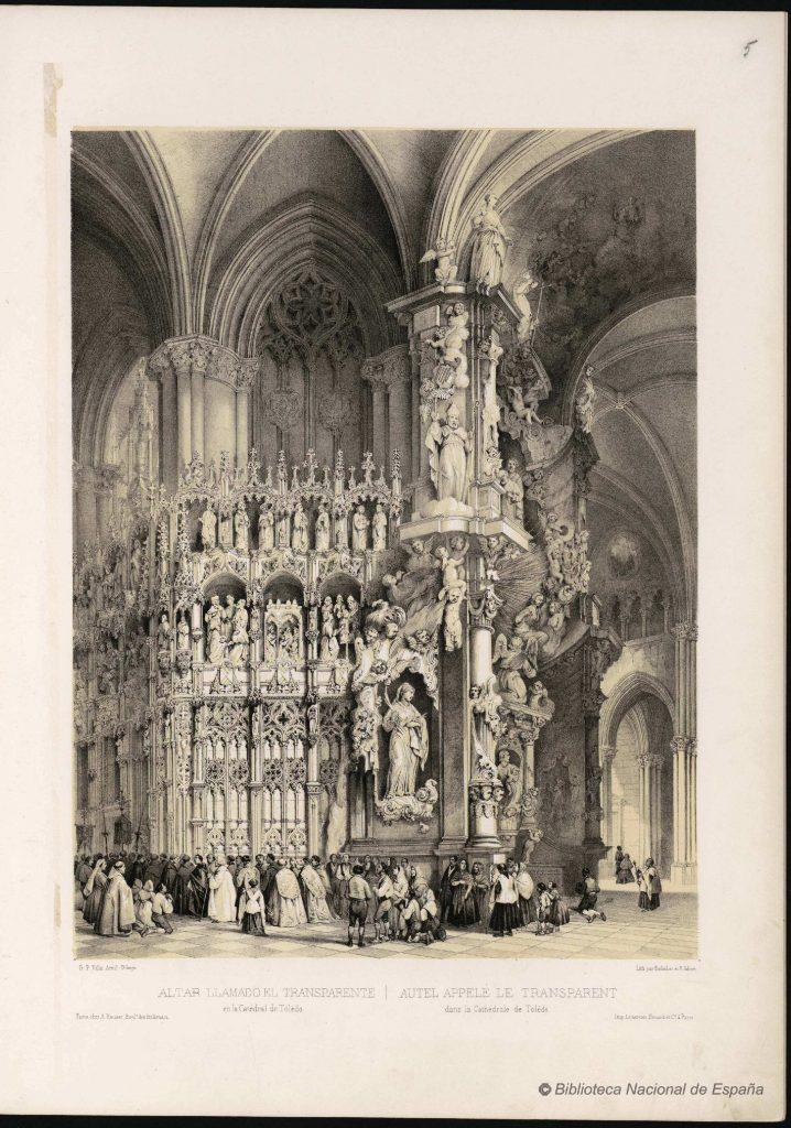 ALTAR LLAMADO EL TRANSPARENTE : en la Catedral de Toledo = AUTEL APPELLÉ LE TRANSPARENT : dans la Cathèdrale de Tolède