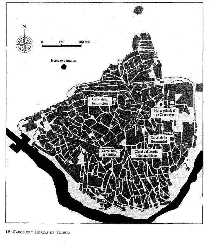 """Cárceles y horcas de Toledo en el siglo XV. Por Óscar López Gómez, en su libro """"La sociedad amenazada: crimen, delincuencia y poder en Toledo a finales del siglo XV"""""""