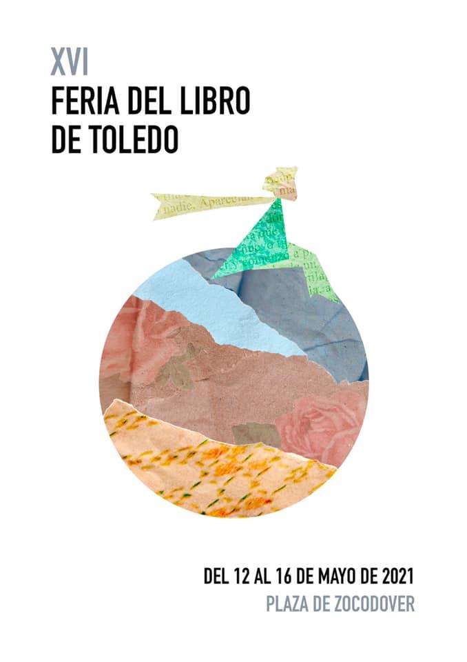Cartel XVI Feria del Libro de Toledo, creado por la alumna de primer curso de Ilustración en la Escuela de Arte de Toledo, Alba Cerdeño García-Ochoa