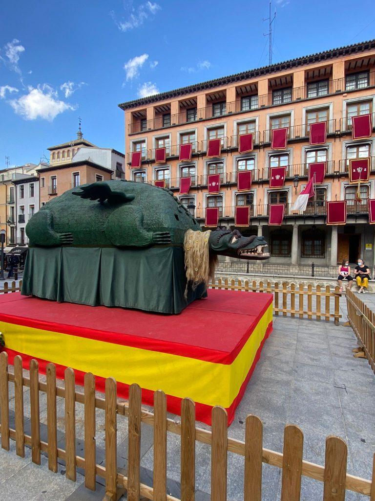 La Tarasca permanecerá expuesta en la Plaza de Zocodover del 1 al 6 de junio