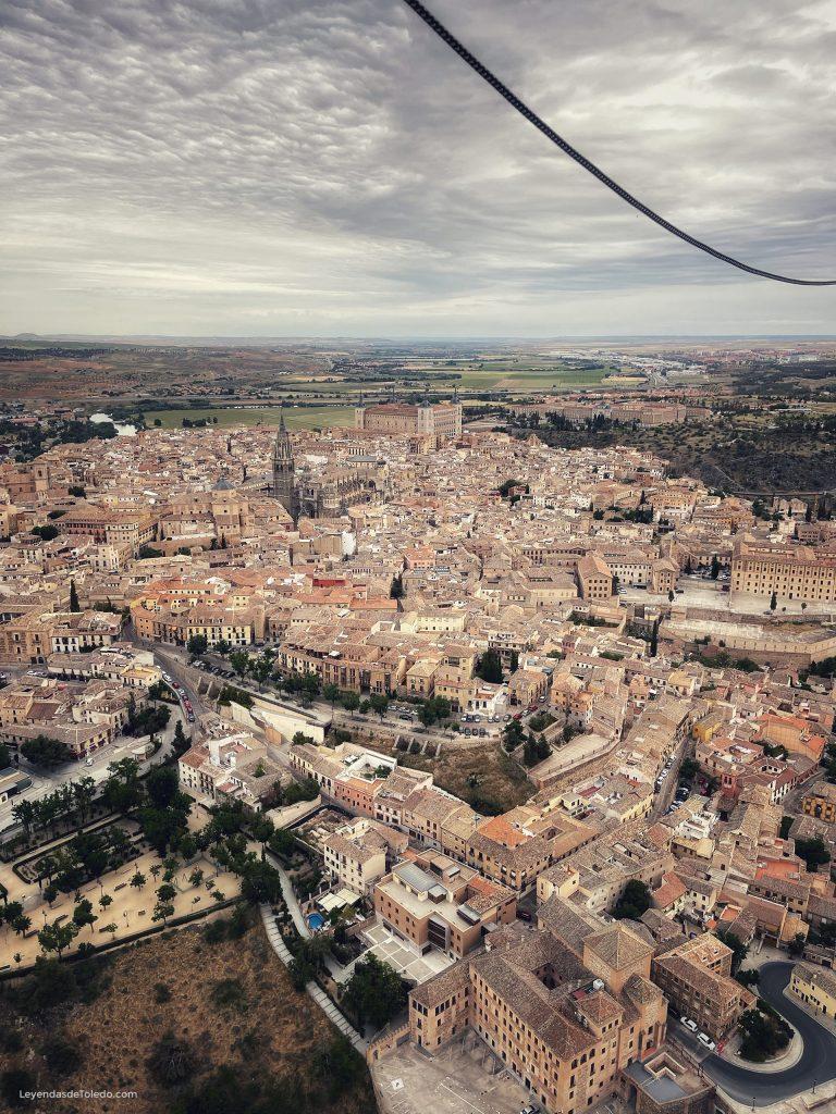 En globo aerostático sobre Toledo