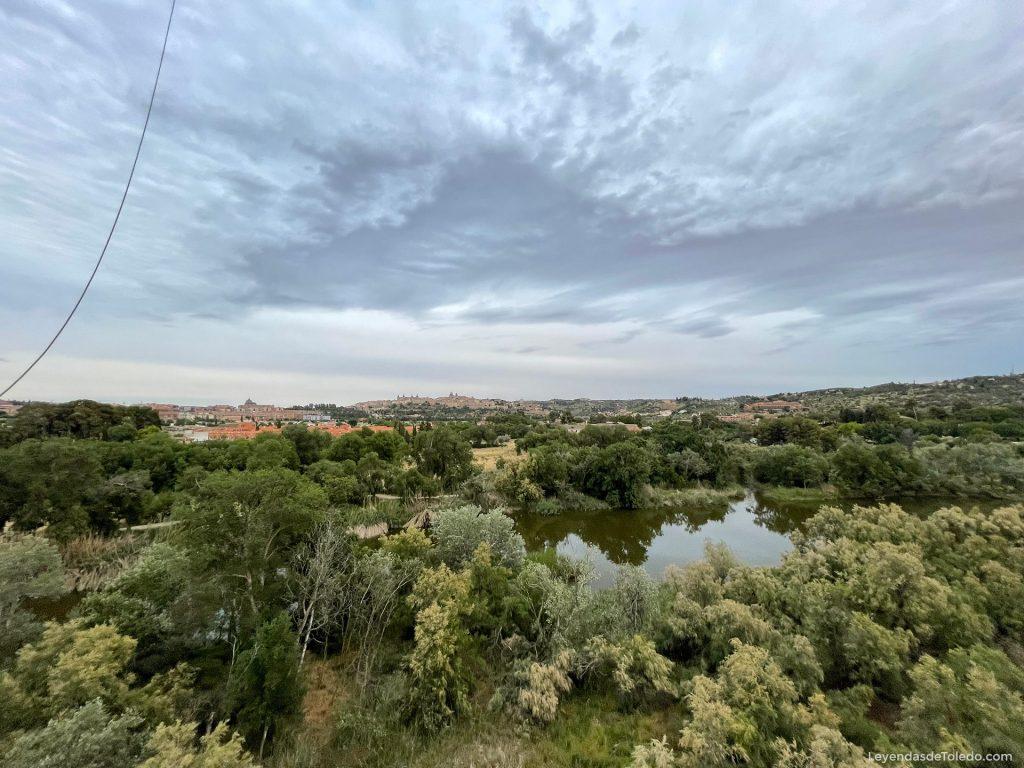 Vuelo en globo sobre Toledo. Río Tajo