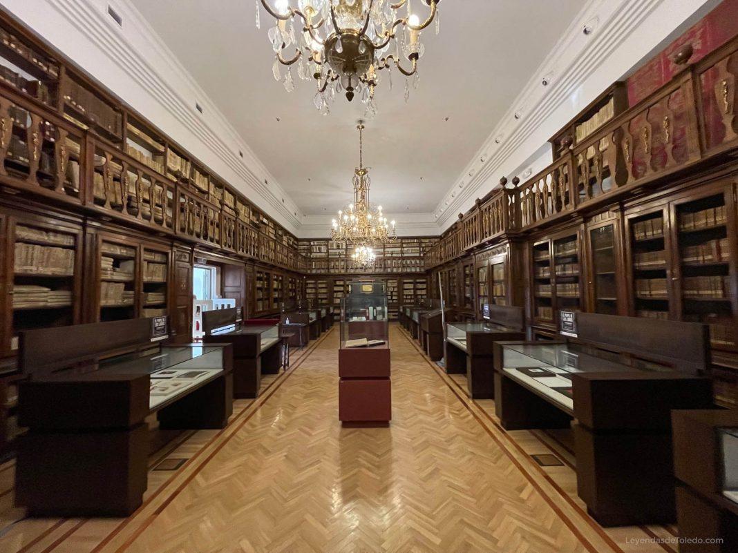 Sala Borbón Lorenzana, en su actual ubicación en la Biblioteca de Castilla-La Mancha